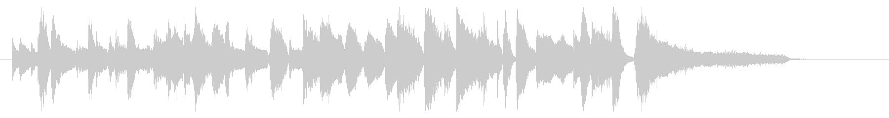 ジングル ジャズピアノ9の未再生の波形
