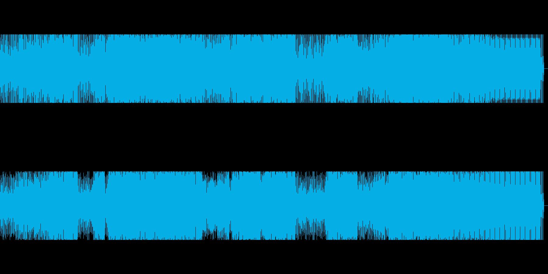【低音強め】ダンスミュージックの再生済みの波形