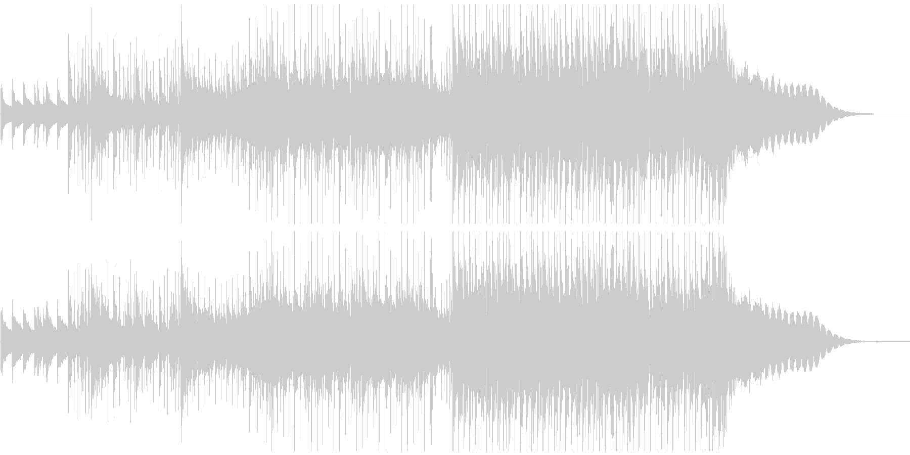 【わんぱくキッズ】チャイムでポップスの未再生の波形