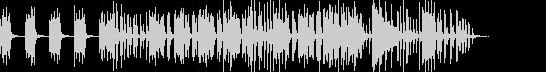 ほのぼの楽しいリズミカルなピアノソロの未再生の波形