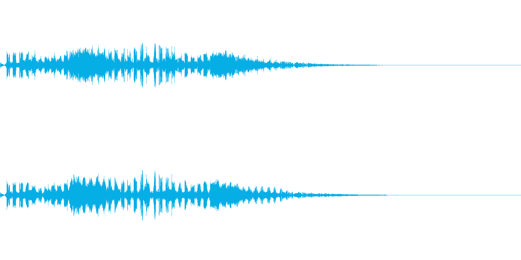 変なUFO飛来音の再生済みの波形
