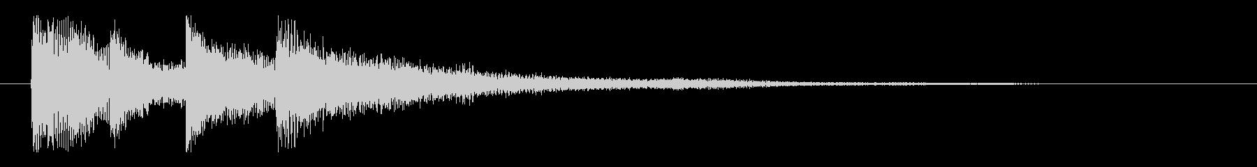 優しくおしゃれな ピアノのサウンドロゴの未再生の波形