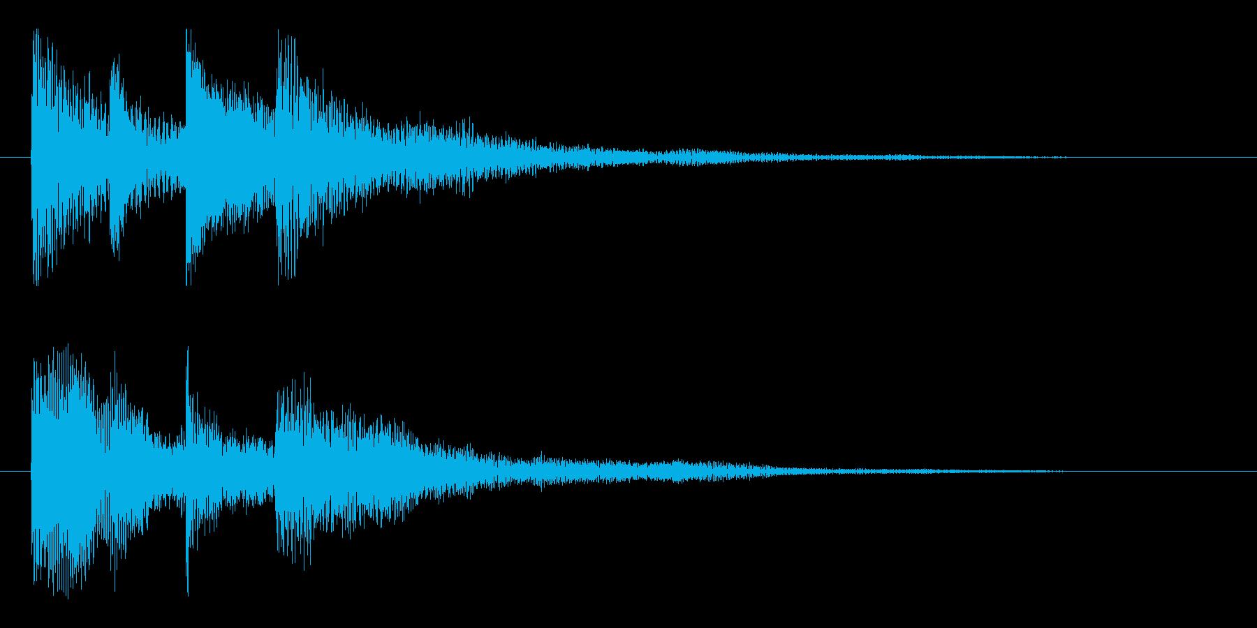 優しくおしゃれな ピアノのサウンドロゴの再生済みの波形