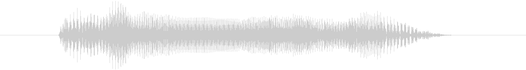 エレキギターのギューーンの音の未再生の波形