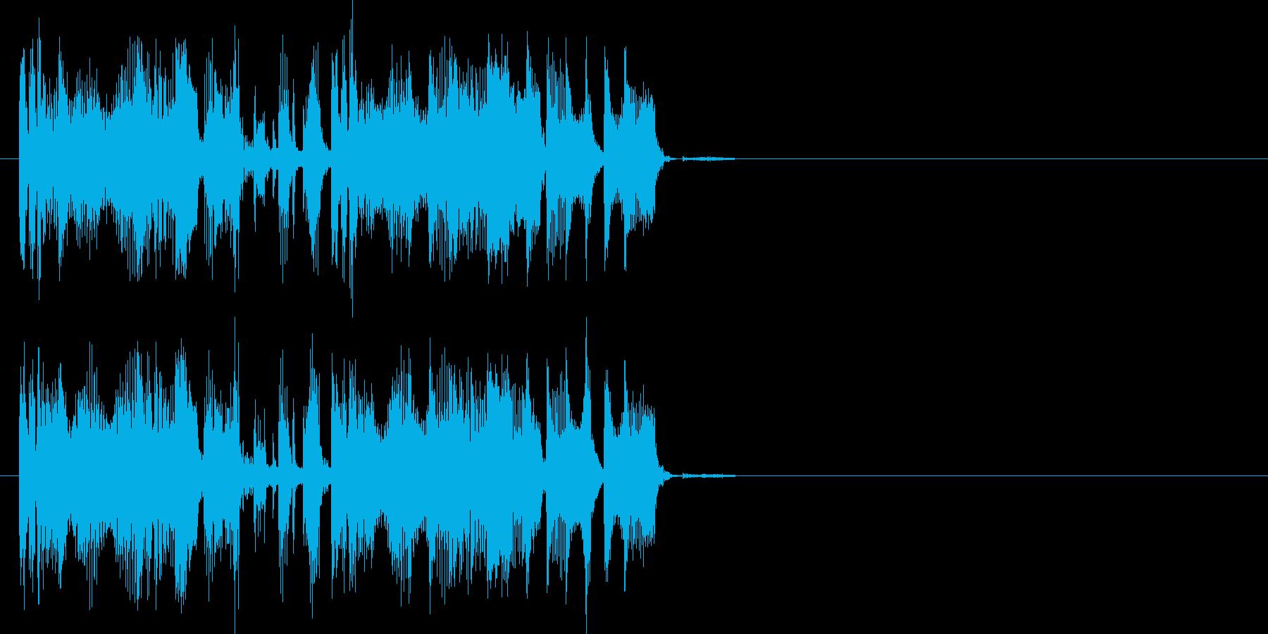 場面転換、動画作成に最適なEDMジングルの再生済みの波形