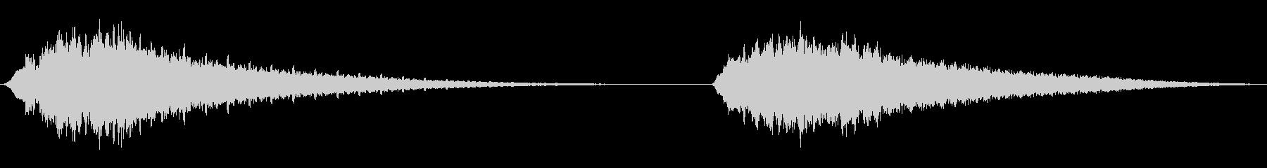 スペーススイープ、アップ、ダウン、...の未再生の波形