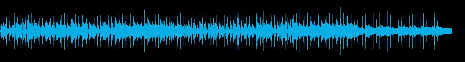 軽快なリズムに合わせた生ウクレレメロディの再生済みの波形
