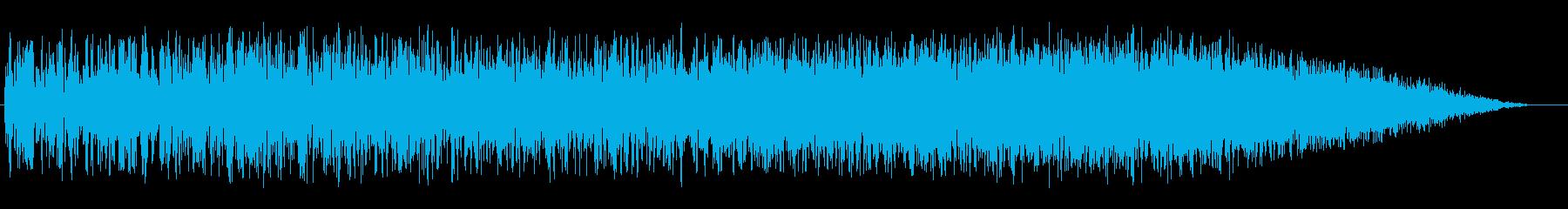 宇宙船離陸・ワープ(上がり調子)の再生済みの波形
