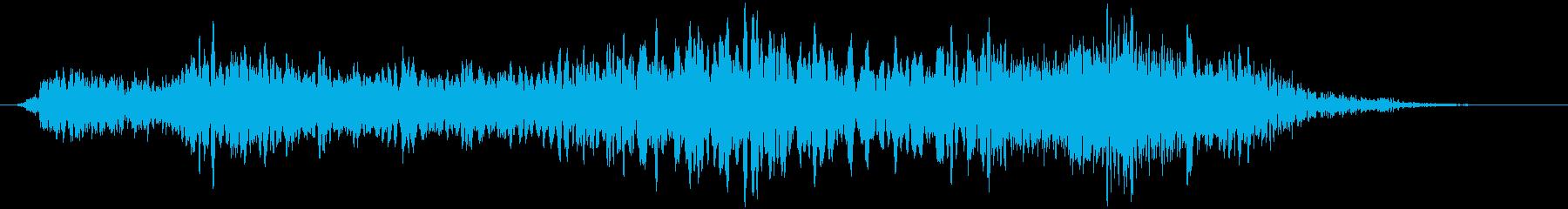 野鳥のうるさい鳴き声 ギィーゥィッの再生済みの波形