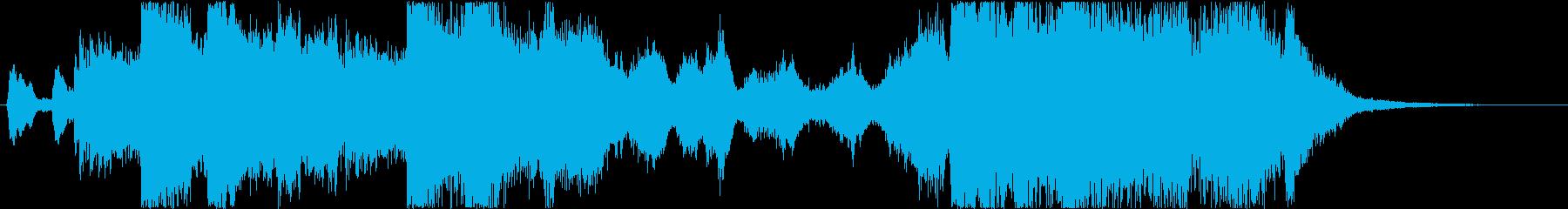 やや長めのファンファーレ 金管の再生済みの波形