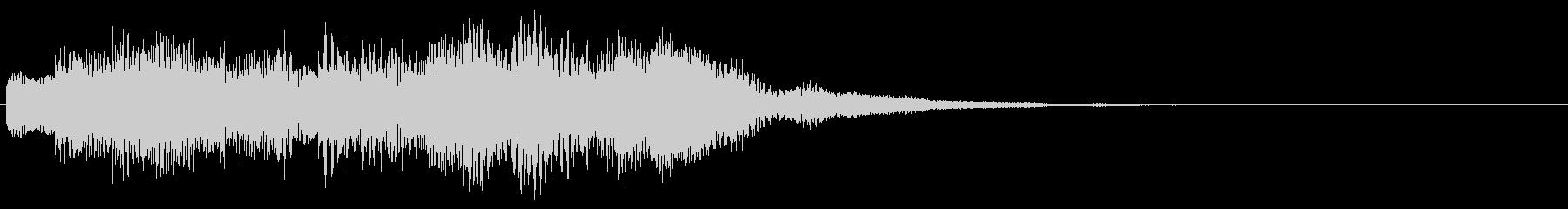 お知らせ タイトル 上昇 ロゴ音6の未再生の波形