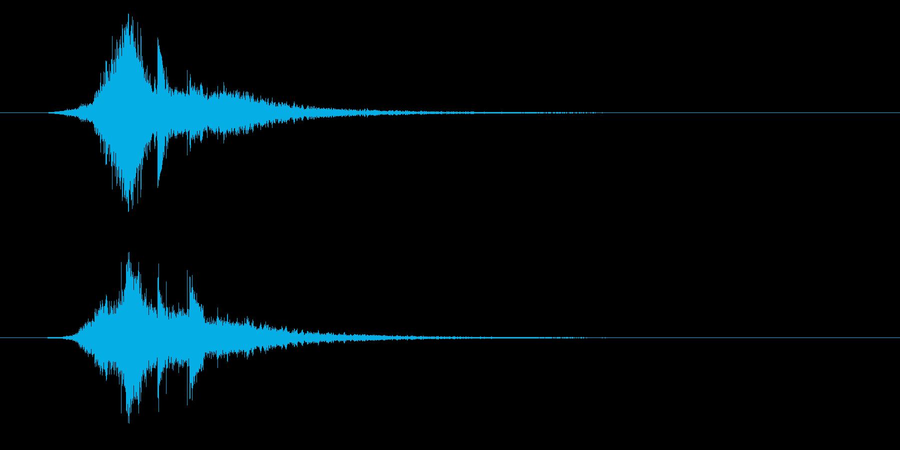 サウンドロゴ、起動音、クールな電子音の再生済みの波形
