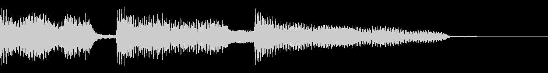 オシャレなエレクトリックピアノのジングルの未再生の波形