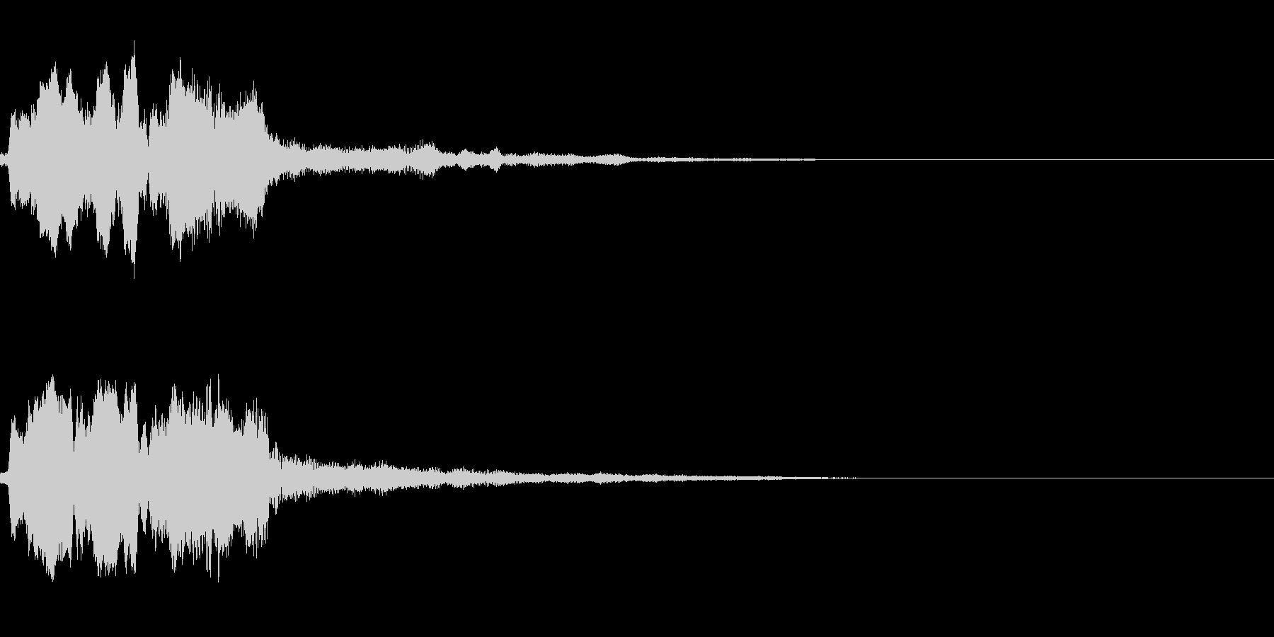 決定音(ゲーム寄りの音)の未再生の波形