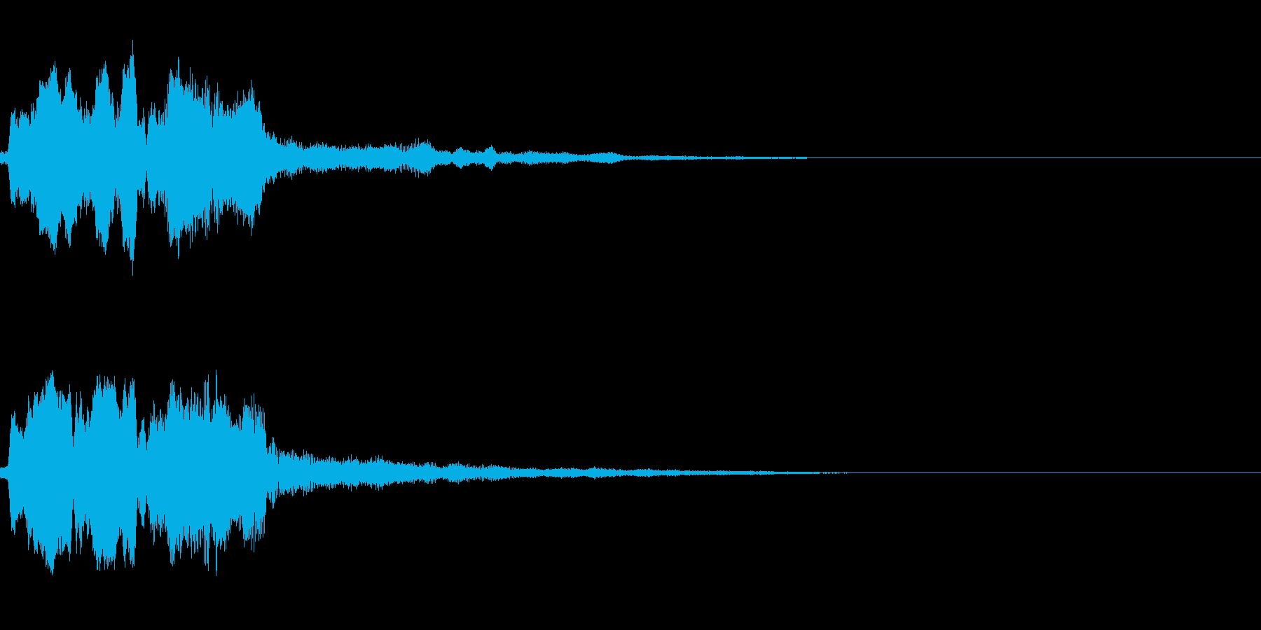 決定音(ゲーム寄りの音)の再生済みの波形
