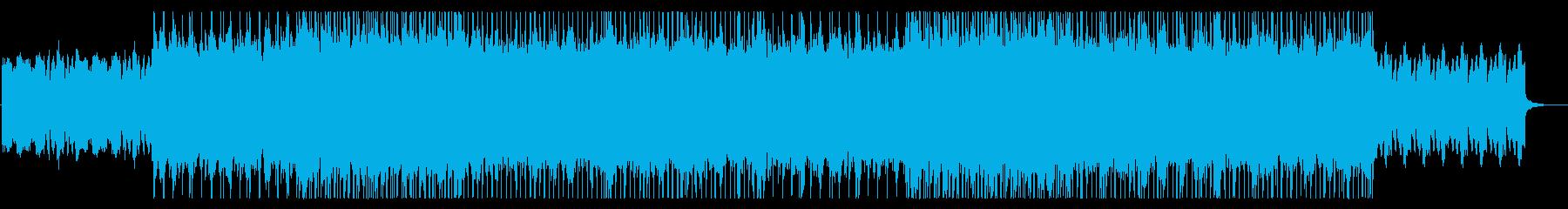 メロディアスな旋律のロックの再生済みの波形