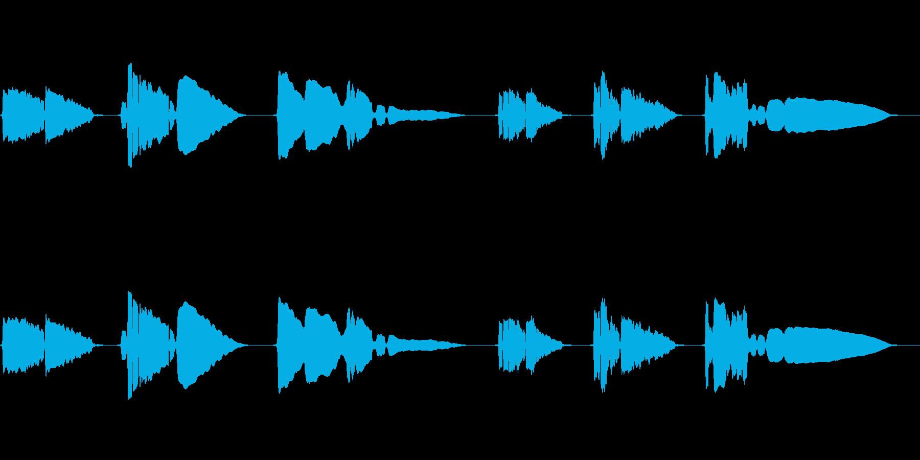 SAX一本の切ない曲です。の再生済みの波形