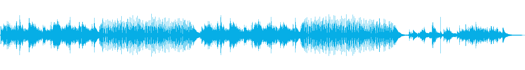 明るいアコースティックのバラードの再生済みの波形