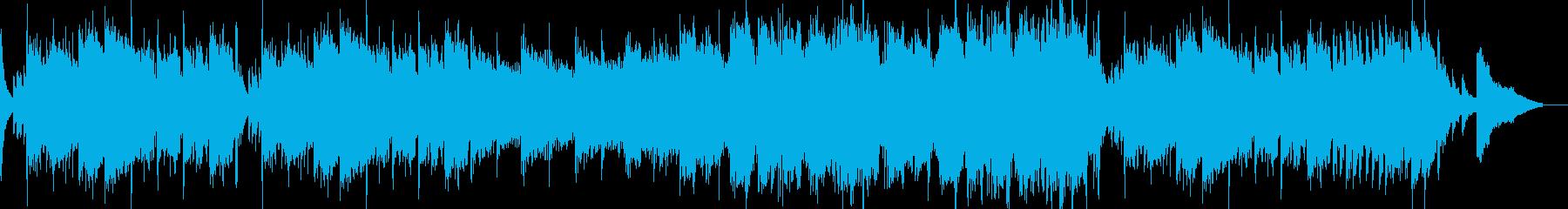 和風オーケストラ時代劇風の再生済みの波形