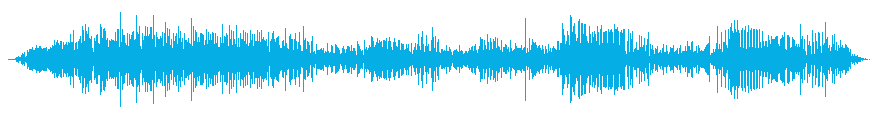 成人男性:叫ぶ声の再生済みの波形