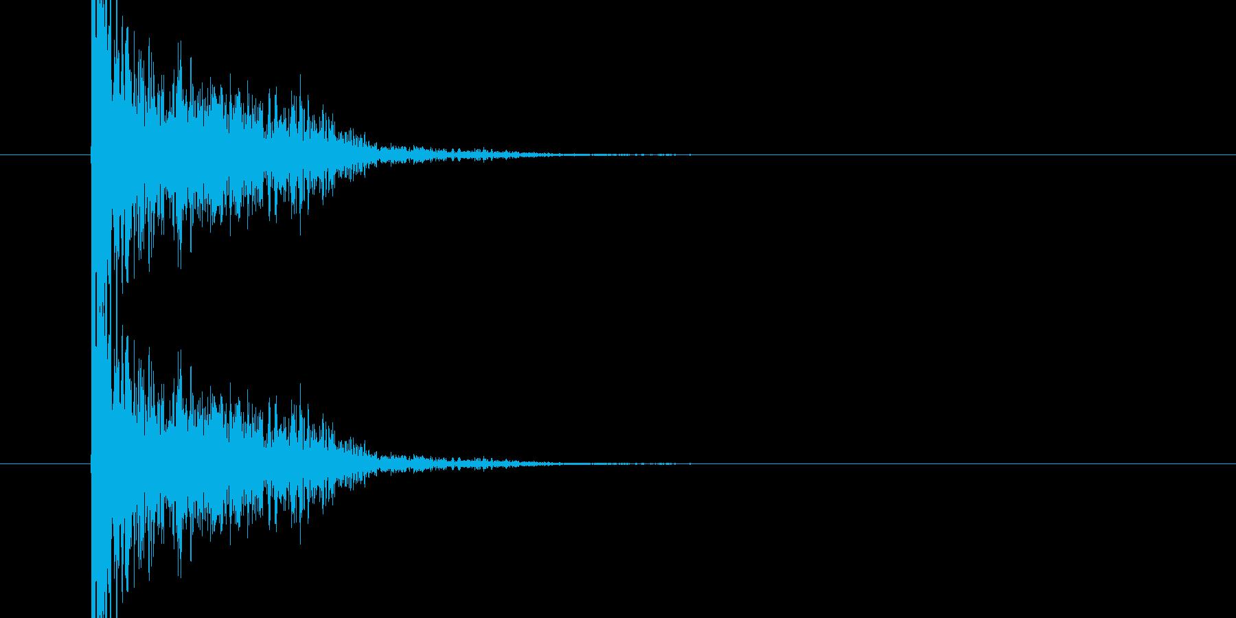 バンという大きめな銃声、破裂音04ですの再生済みの波形