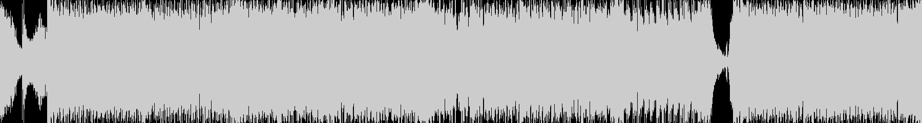 音ゲーみたいなアップテンポな和風曲ループの未再生の波形