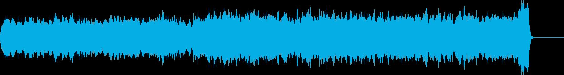 バッハのようなパイプオルガンオリジナル曲の再生済みの波形