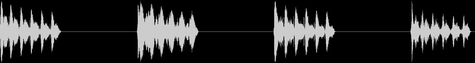 レーザーショット、4バージョン、ガ...の未再生の波形