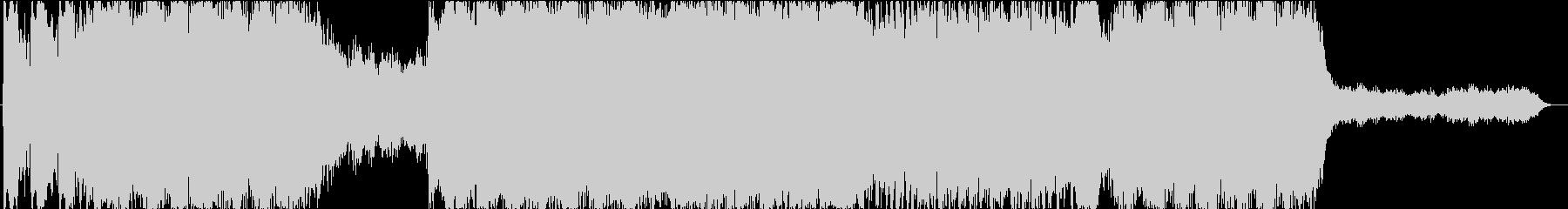 シネマティックなダークファンタジーBGMの未再生の波形