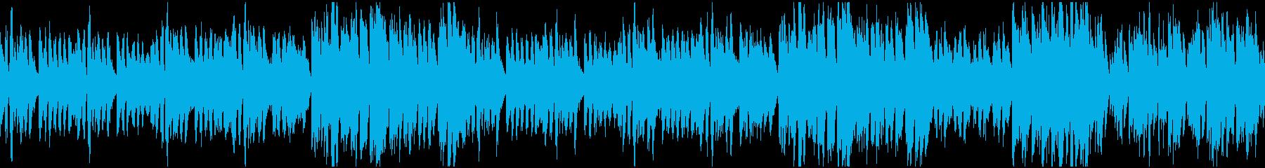 ほのぼの楽しい日常曲・ループの再生済みの波形