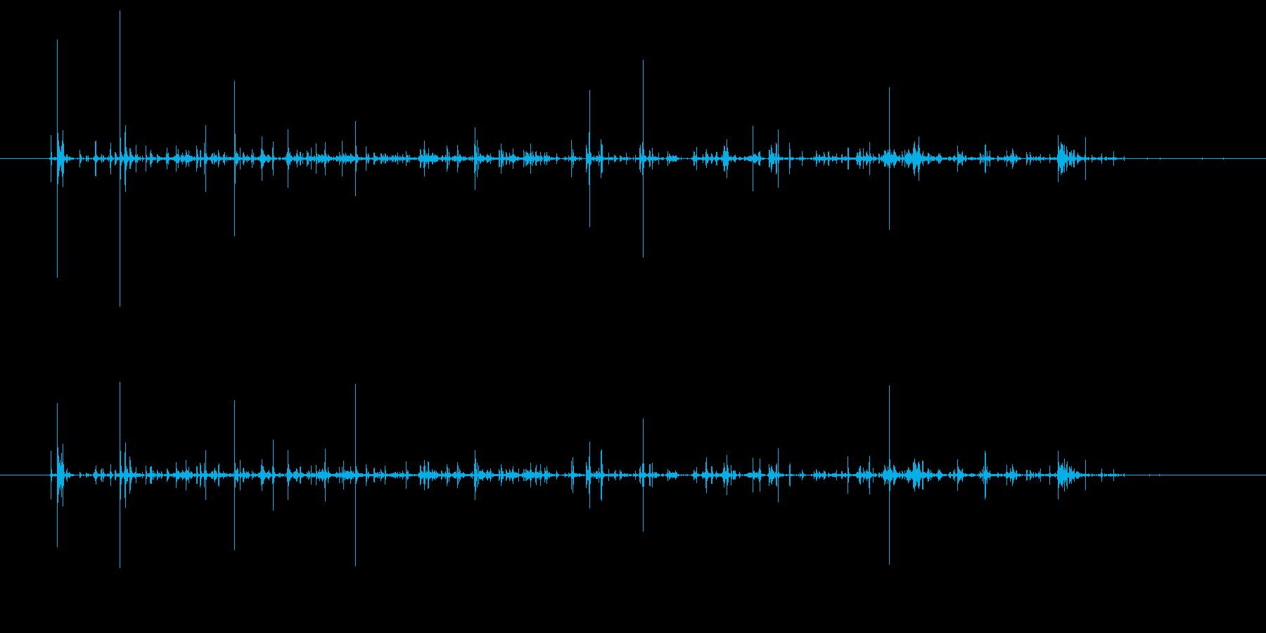 チャポチャポ(水を優しくかき回す音②)の再生済みの波形