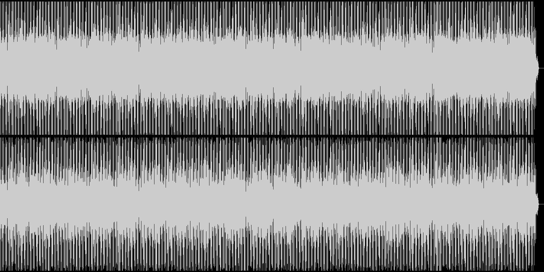 爽やかで軽快なテクノポップの未再生の波形