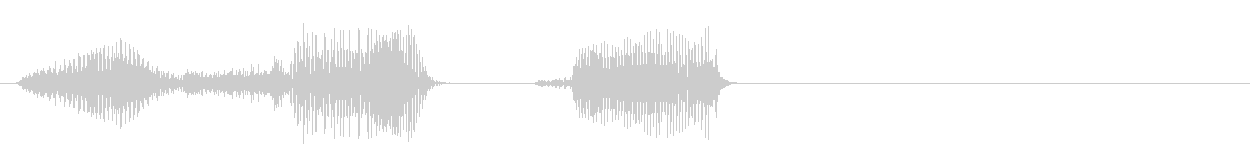 時速の未再生の波形