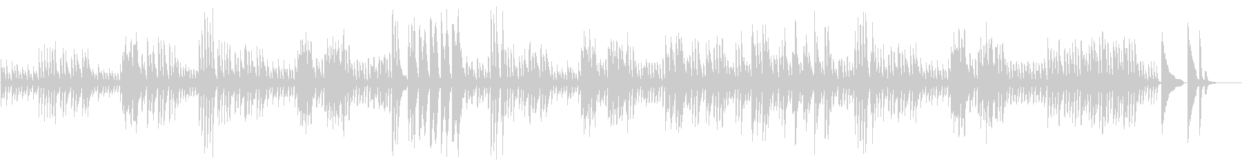 不思議な雰囲気のピアノ曲の未再生の波形