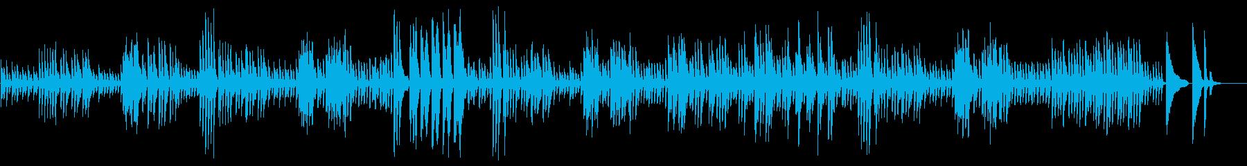 不思議な雰囲気のピアノ曲の再生済みの波形