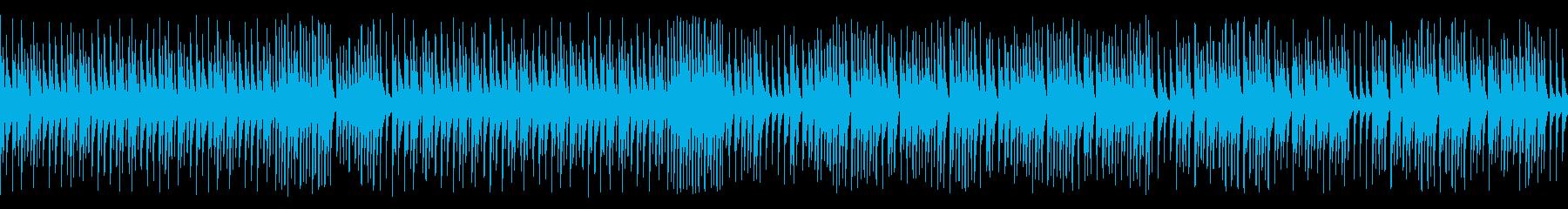 木琴でハッピー高速オールドジャズ(ループの再生済みの波形
