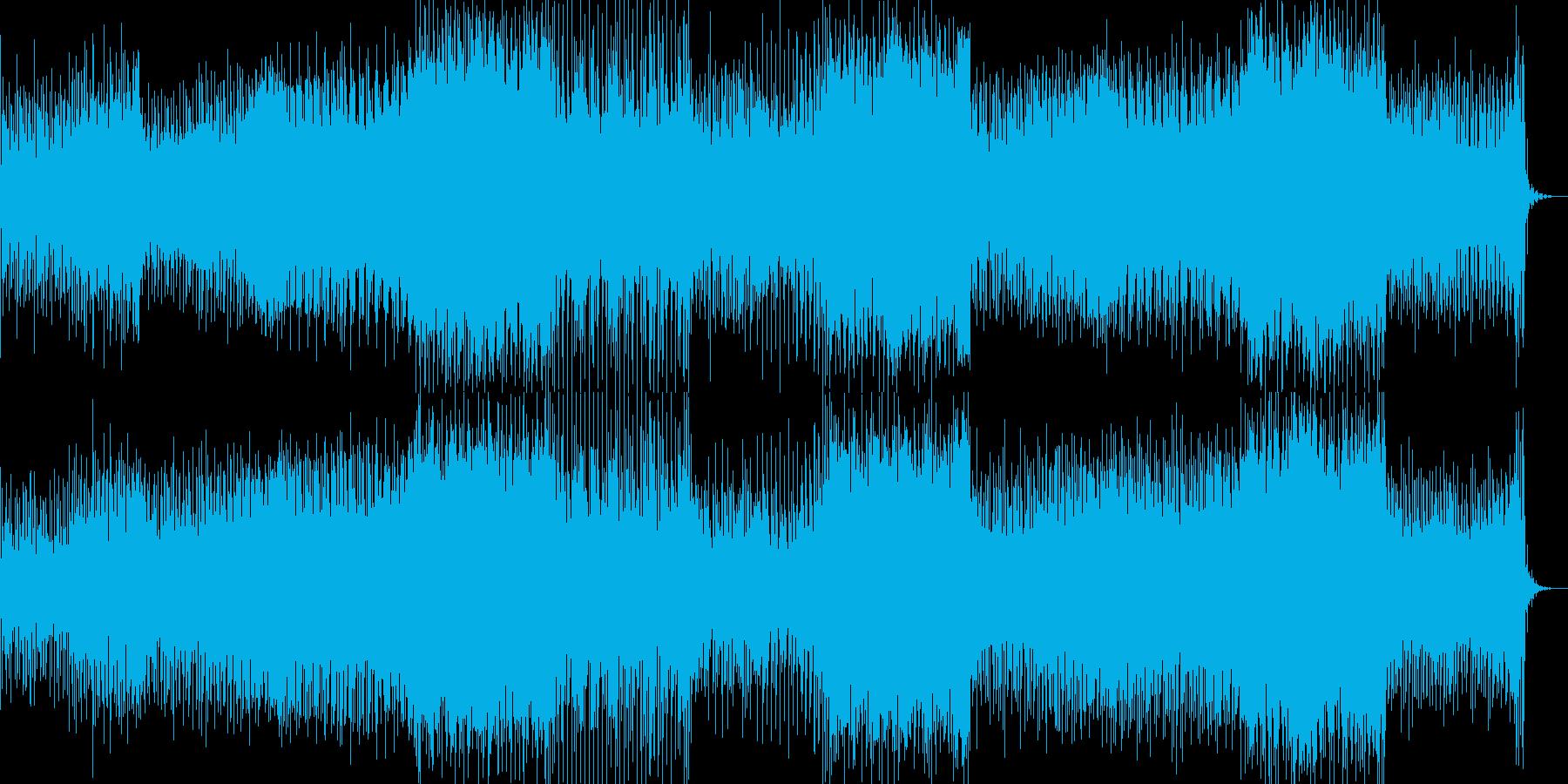 切ないリフが印象的なEDMの再生済みの波形