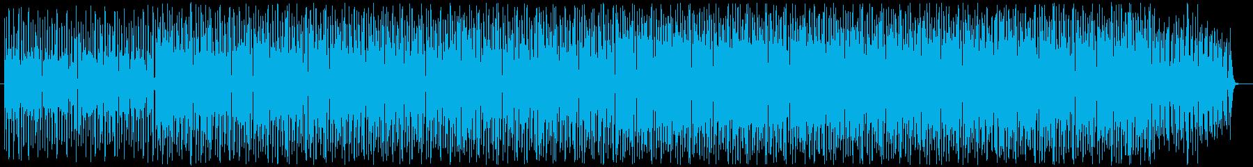 シリアスでファンキーなテクノの再生済みの波形