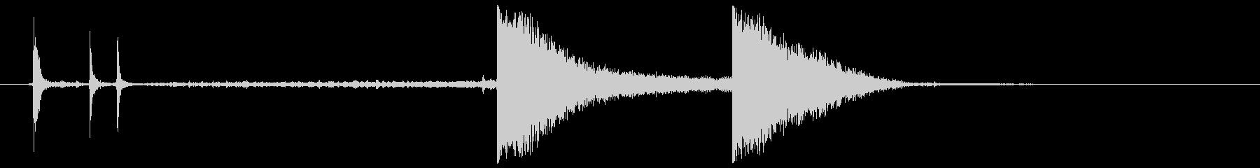 クロック9、19世紀、Stikes...の未再生の波形