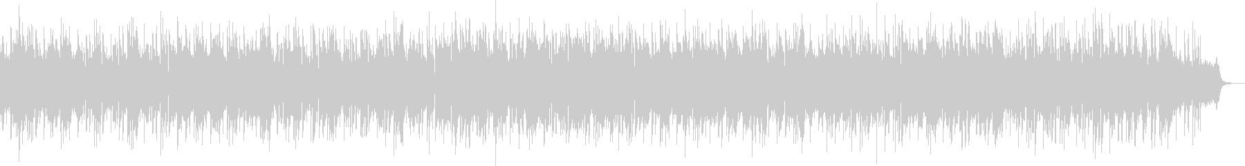Fashionable and mysterious melody's unreproduced waveform
