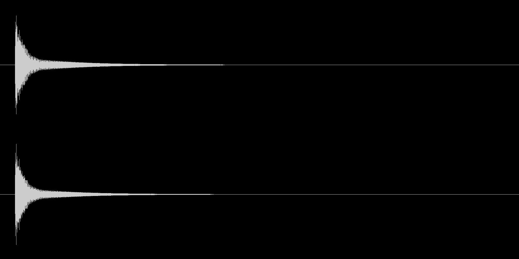 「ポン」うちわ太皷の単発音の未再生の波形