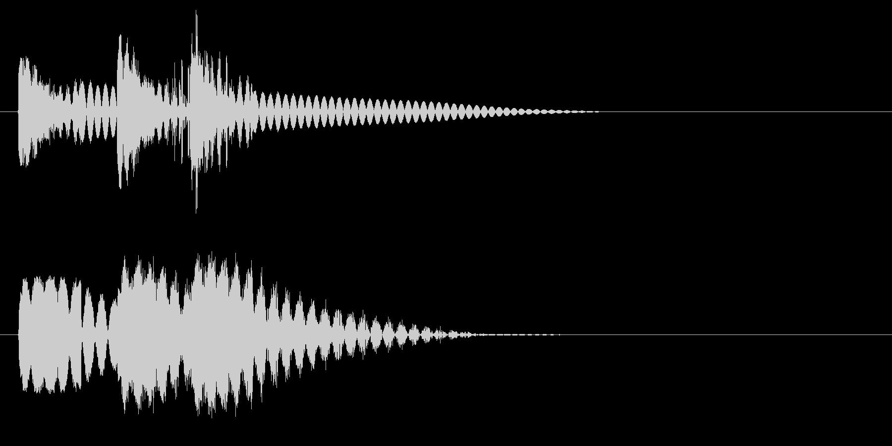 ビュビュビュン 射撃音 ゲームなどの未再生の波形