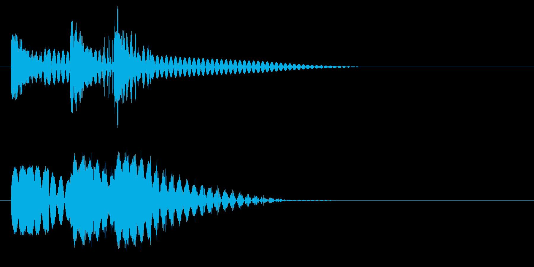 ビュビュビュン 射撃音 ゲームなどの再生済みの波形