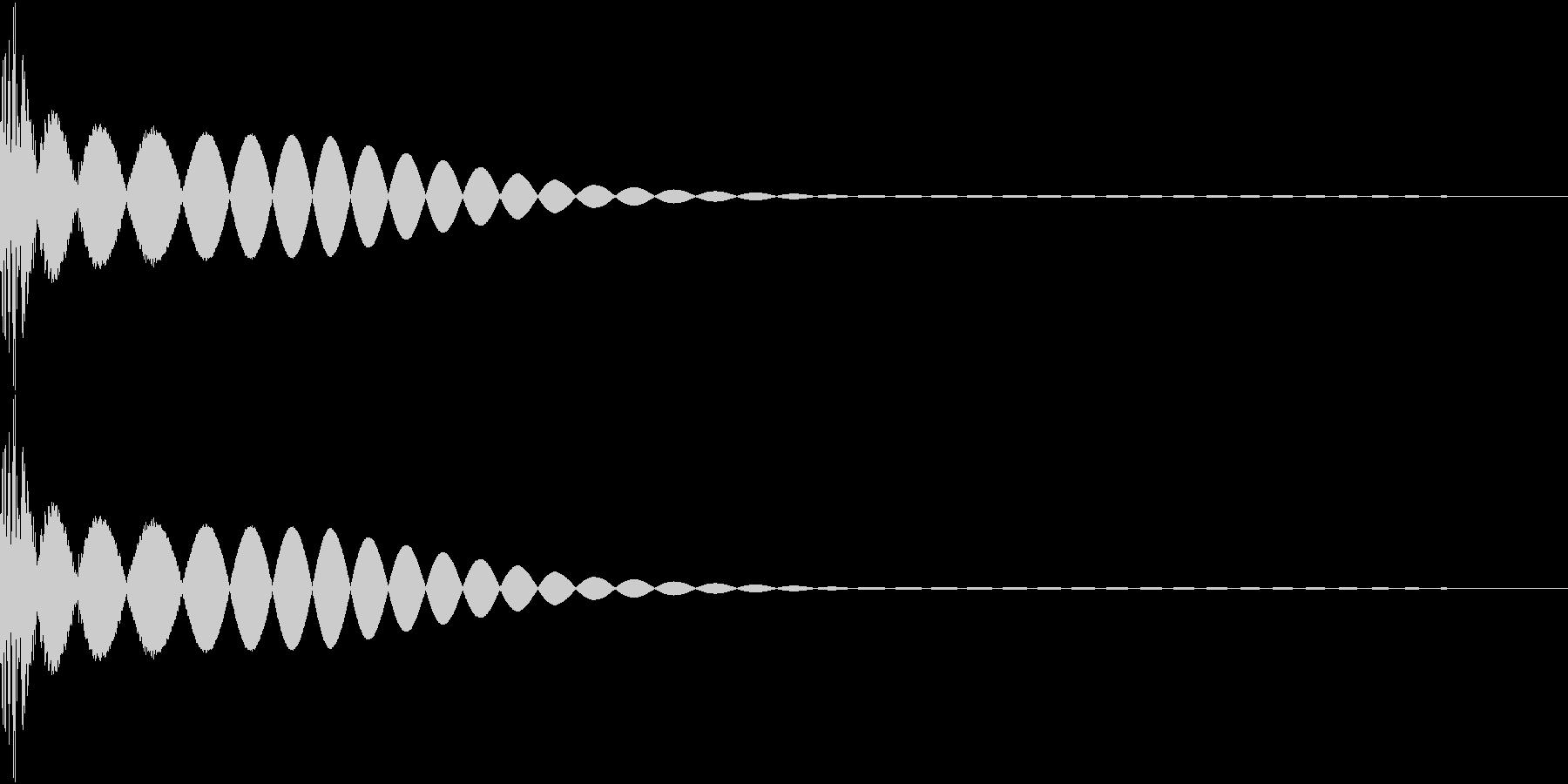 DTM Kick 6 オリジナル音源の未再生の波形