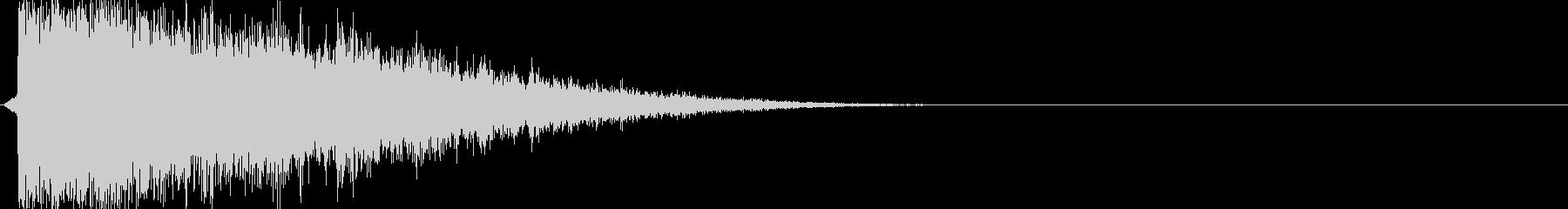 バシューン(シューティング、ショット音)の未再生の波形