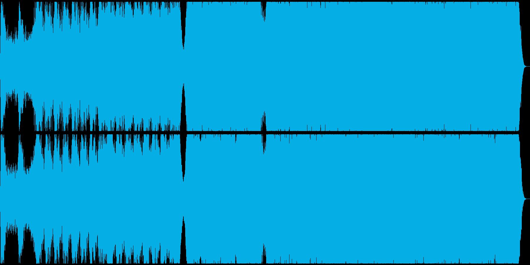 コーラスのあるド派手なオーケストラ曲の再生済みの波形