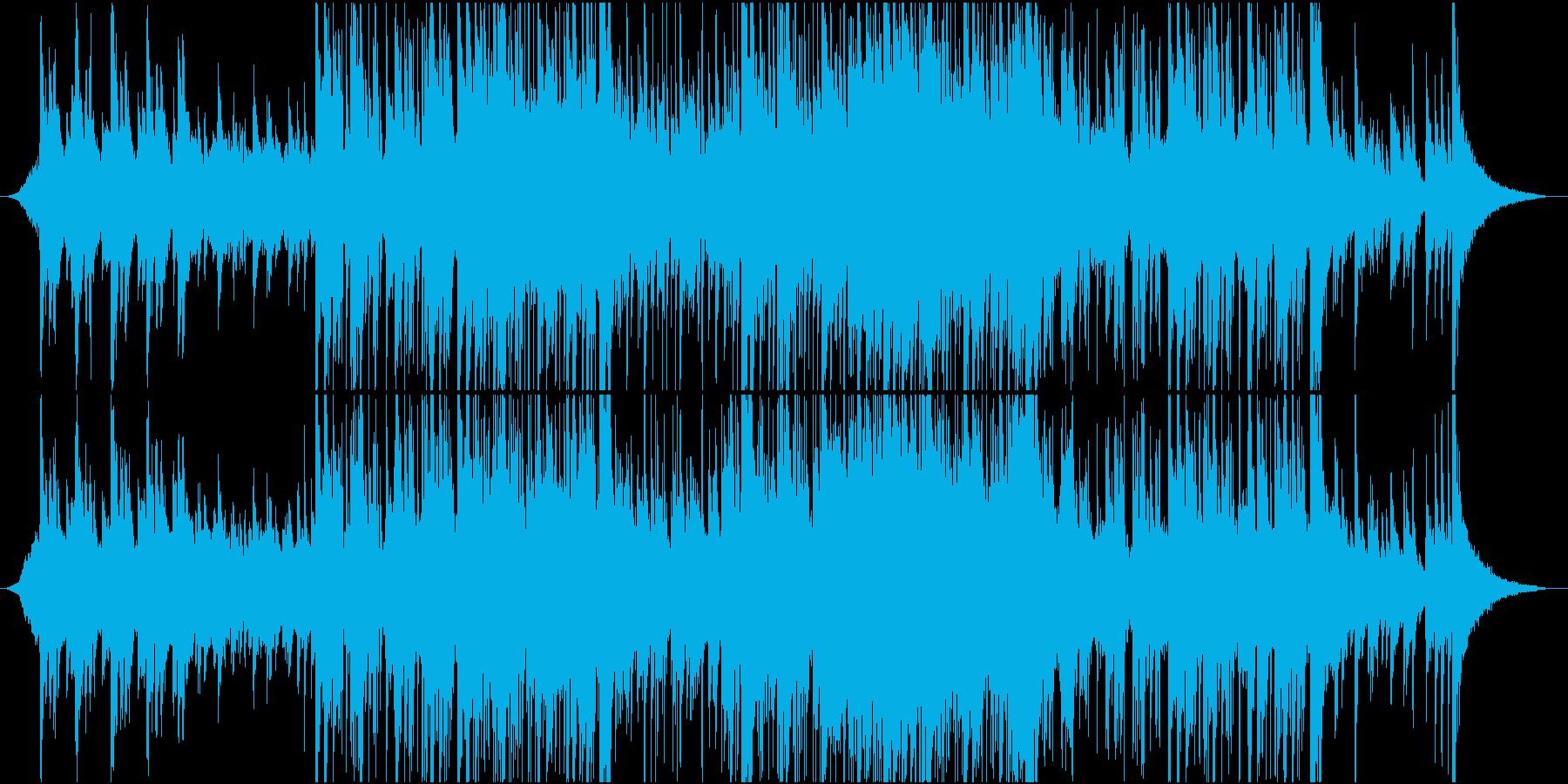 悲しみの中にも決意を秘めたBGMの再生済みの波形