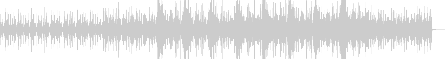 ノイズが印象的/シリアス/ピアノ曲の未再生の波形