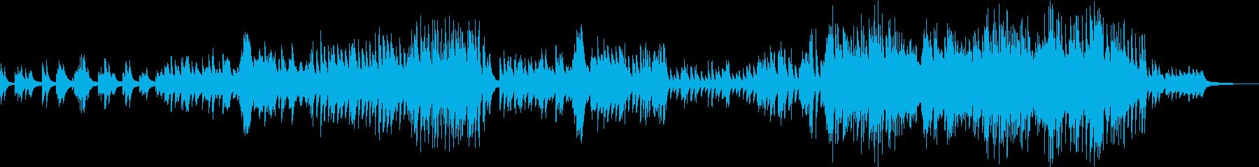 感動のシナリオをイメージしたピアノBGMの再生済みの波形