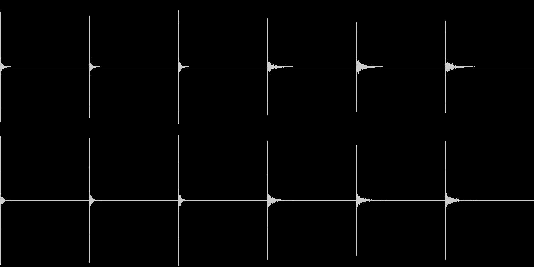 フィンガースナップ(男性、残響有り無し)の未再生の波形